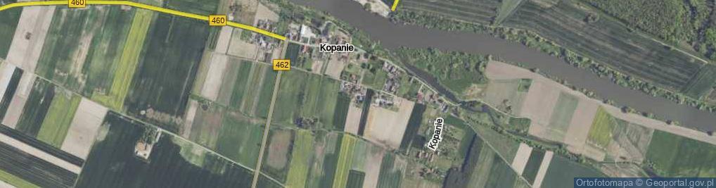 Zdjęcie satelitarne Kopanie