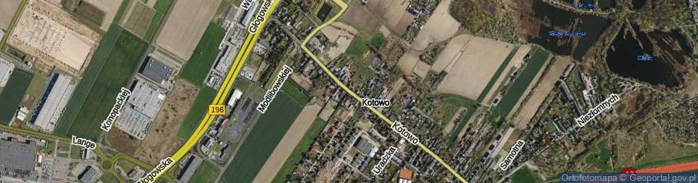 Zdjęcie satelitarne Kotowo ul.