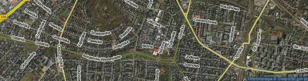 Zdjęcie satelitarne Korzenna ul.