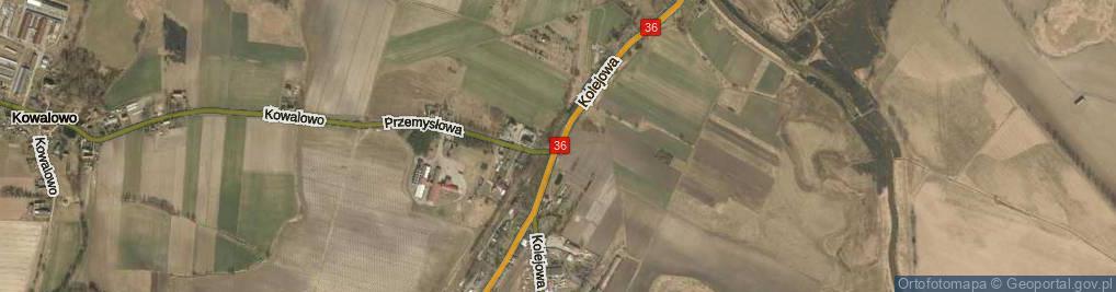 Zdjęcie satelitarne Kolejowa
