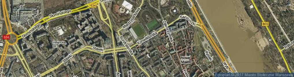 Zdjęcie satelitarne Konwiktorska ul.