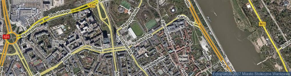 Zdjęcie satelitarne Konwiktorska
