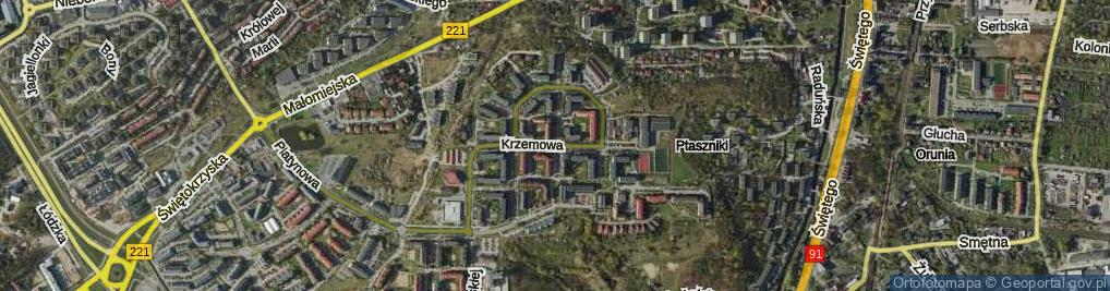 Zdjęcie satelitarne Krzemowa ul.