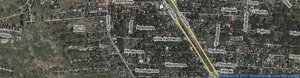 Zdjęcie satelitarne Króla Kazimierza ul.