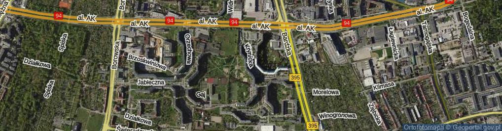 Zdjęcie satelitarne Krynicka ul.