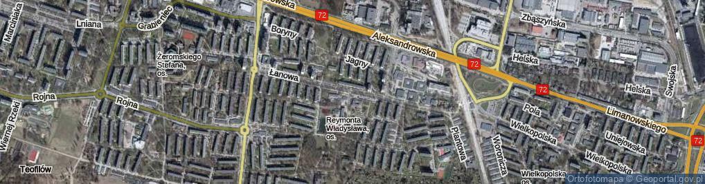 Zdjęcie satelitarne Łanowa