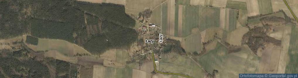 Zdjęcie satelitarne Łazy ul.