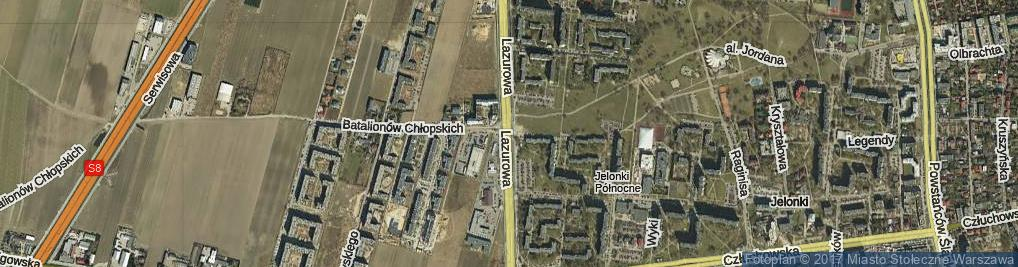 Zdjęcie satelitarne Lazurowa
