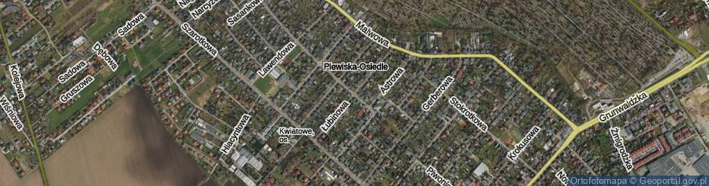Zdjęcie satelitarne Łubinowa ul.