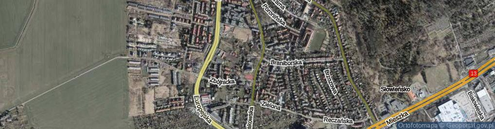 Zdjęcie satelitarne Lwowska ul.