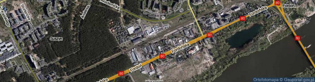 Zdjęcie satelitarne Magazynowa