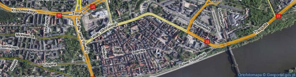 Zdjęcie satelitarne Małe Garbary