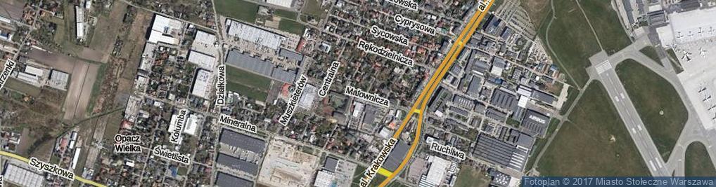 Zdjęcie satelitarne Malownicza