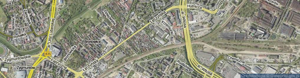 Zdjęcie satelitarne Mieszczańska ul.