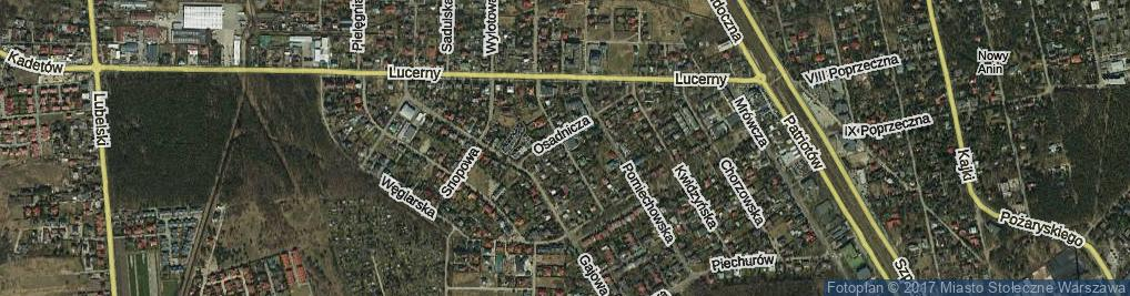 Zdjęcie satelitarne Mielecka ul.