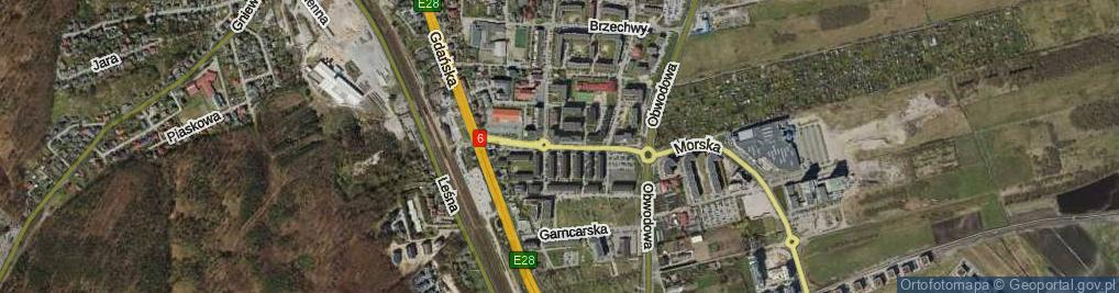 Zdjęcie satelitarne Młyńska ul.