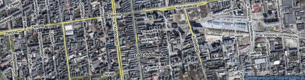 Zdjęcie satelitarne Moniuszki Stanisława