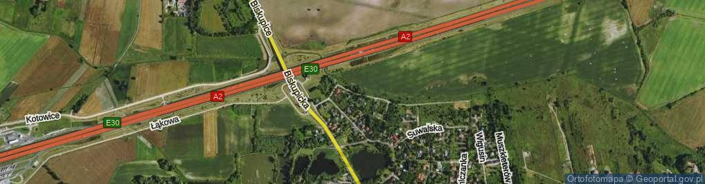 Zdjęcie satelitarne Nadrzeczna