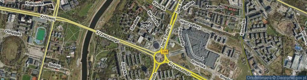 Zdjęcie satelitarne Na Miasteczku ul.