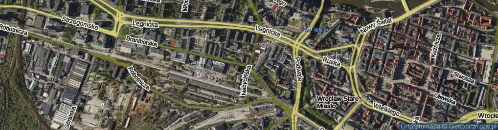 Zdjęcie satelitarne Nabycińska