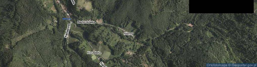 Zdjęcie satelitarne Niemcy
