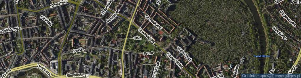Zdjęcie satelitarne Nowowiejska