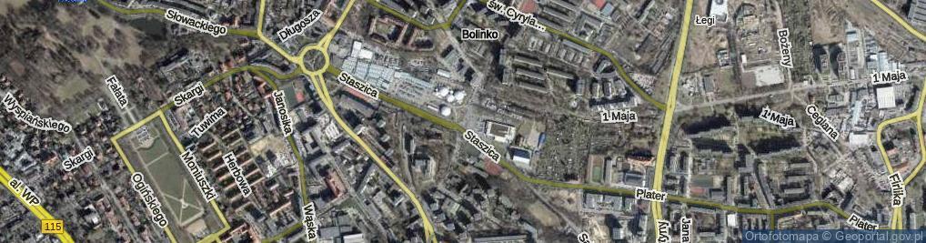 Zdjęcie satelitarne Ofiar Oświęcimia