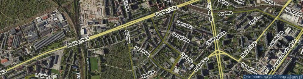 Zdjęcie satelitarne Ołowiana ul.