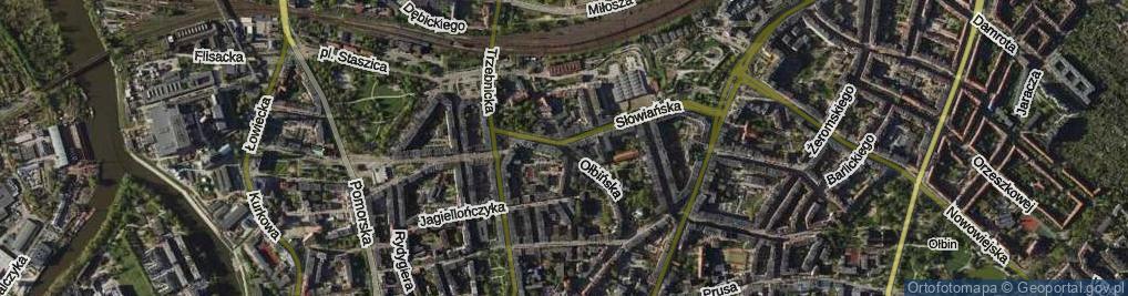 Zdjęcie satelitarne Ołbińska