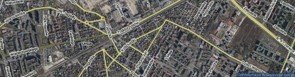 Zdjęcie satelitarne Opieńskiego Henryka ul.