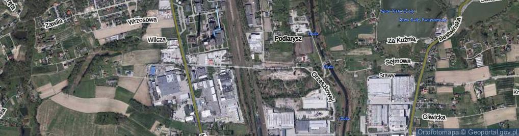 Zdjęcie satelitarne Orzeszkowej Elizy