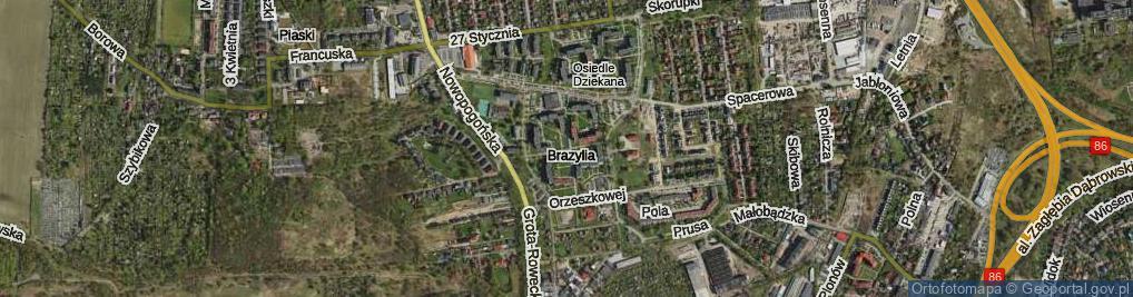 Zdjęcie satelitarne Osiedle Dziekana os.