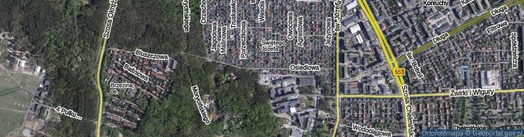 Zdjęcie satelitarne Osiedlowa