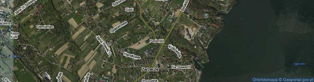 Zdjęcie satelitarne Pasierbki
