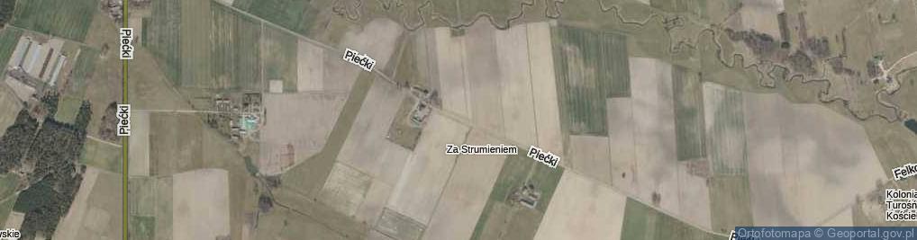 Zdjęcie satelitarne Piećki ul.