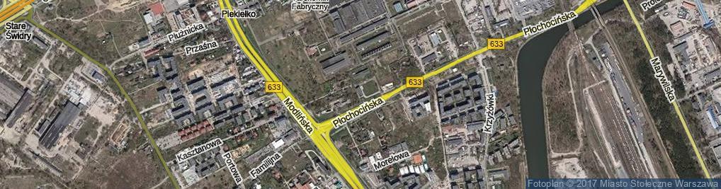 Zdjęcie satelitarne Płochocińska ul.