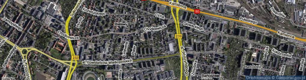 Zdjęcie satelitarne Powstańców Śląskich ul.