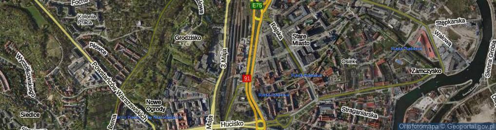 Zdjęcie satelitarne Podwale Grodzkie ul.