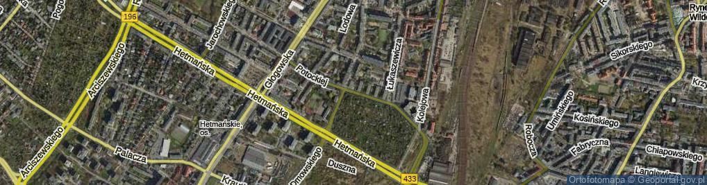 Zdjęcie satelitarne Potockiej Klaudyny ul.