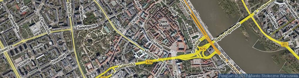 Zdjęcie satelitarne Podwale
