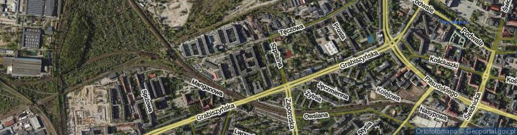 Zdjęcie satelitarne Pochyła ul.