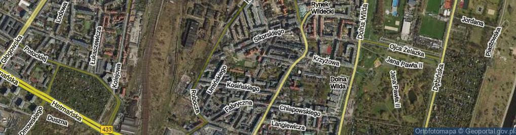 Zdjęcie satelitarne Prądzyńskiego Ignacego, gen.