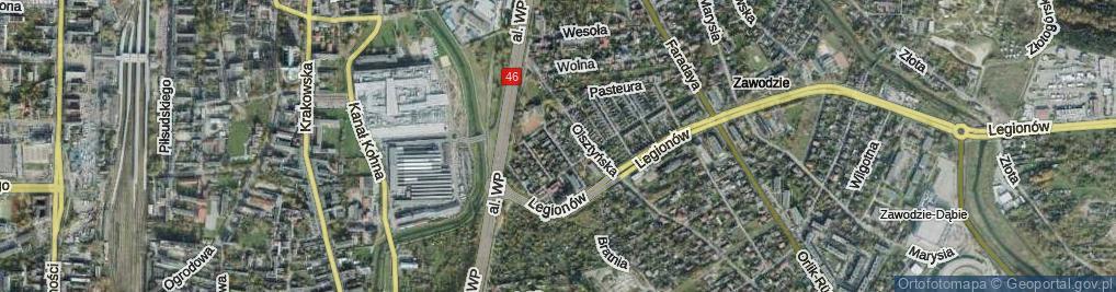 Zdjęcie satelitarne Roentgena ul.