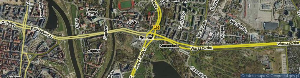 Zdjęcie satelitarne Rondo Śródka