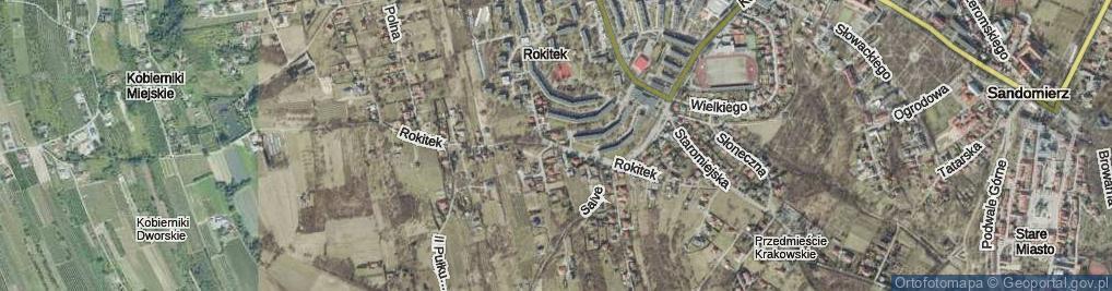 Zdjęcie satelitarne Rokitek ul.