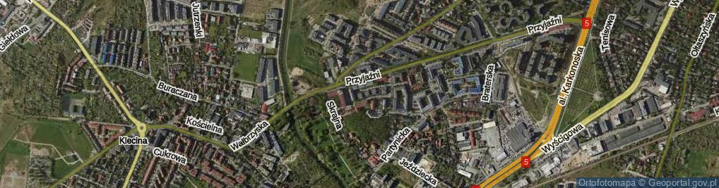 Zdjęcie satelitarne Rodzinna ul.
