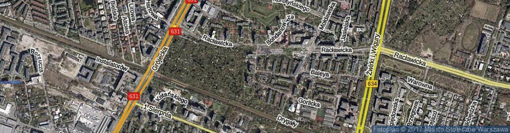 Zdjęcie satelitarne Sąchocka ul.