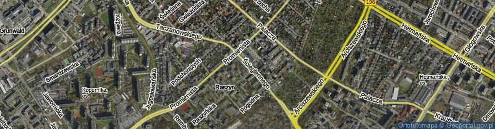 Zdjęcie satelitarne Ściegiennego Piotra, ks.