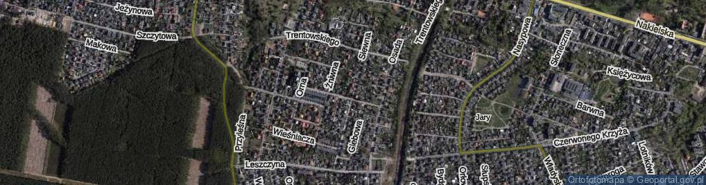 Zdjęcie satelitarne Siewna ul.