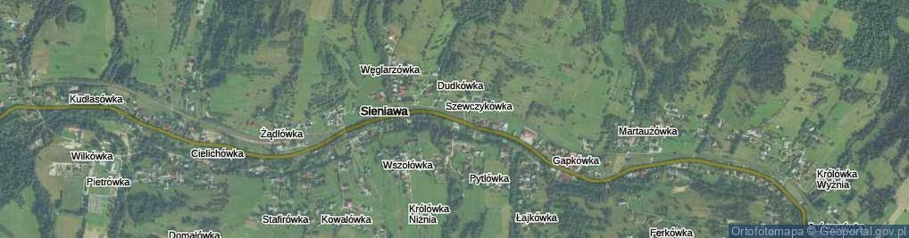 Zdjęcie satelitarne Sieniawa